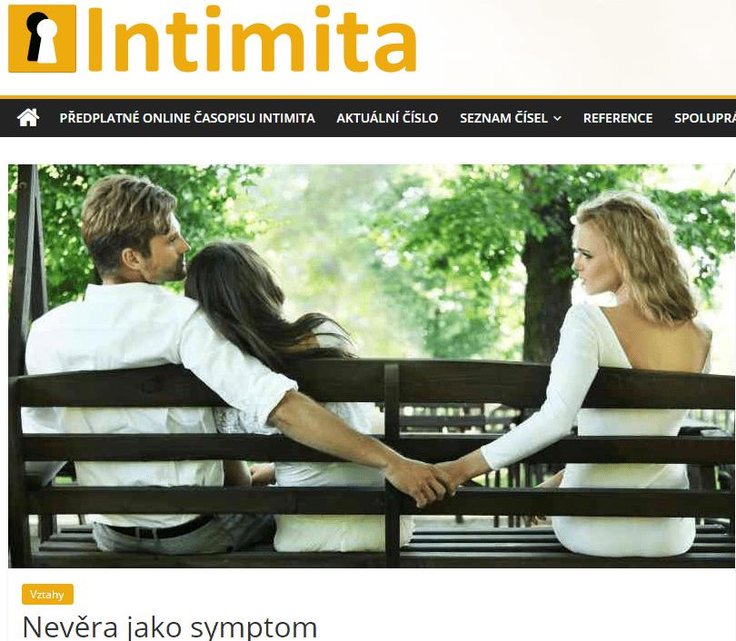 Nevěra, časopis Intimita- psycholog apárový psychoterapeut Praha Pavel Rataj